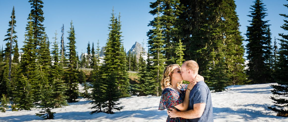 Mount Rainier engagement