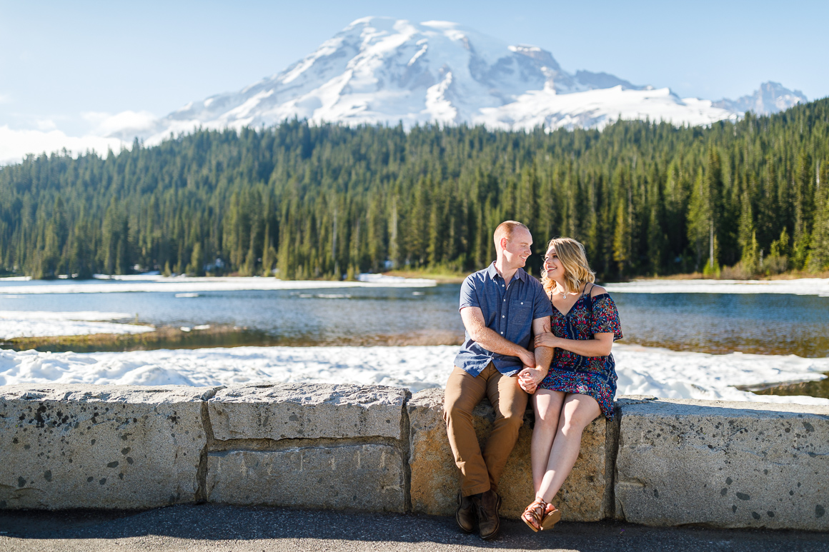 Mount Rainier engagement