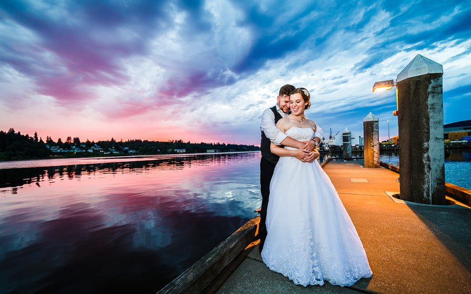 Waterfront wedding photographer
